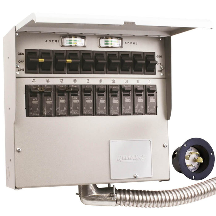 Reliance 310A 120/240 Volt 30 Amp 10 Circuit Pro/Tran Indoor Transfer Switch