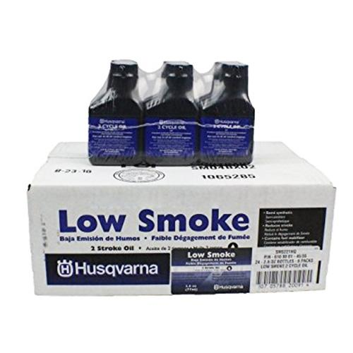 Husqvarna 593152604 12.8oz 2-Cycle Synthetic Low Smoke Blend Engine Oil - 24pk