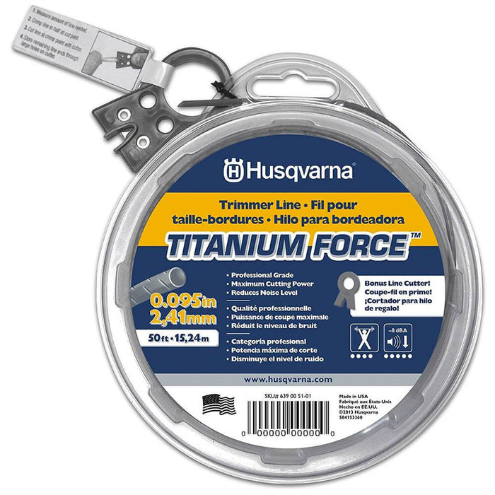 Husqvarna 639005101 .095-Inch x 50-Foot Titanium Force String Trimmer Line Donut
