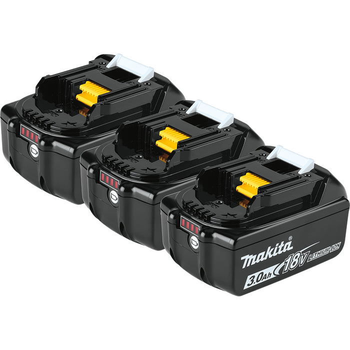 Makita BL1830B-3 18V LXT Lithium-Ion 3.0Ah Battery 3 Pack