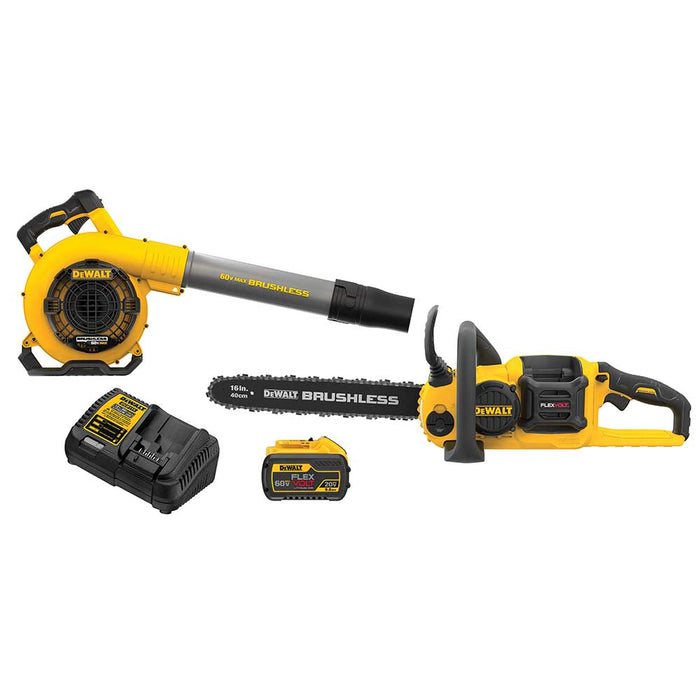 "DeWALT DCKO667X1 60V MAX FLEXVOLT 16"" Cordless Chainsaw and Blower Combo Kit"