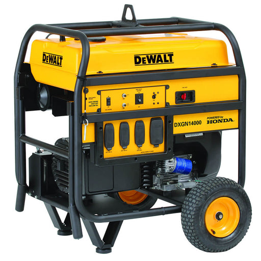 DeWALT DXGN14000 14000 Watt Commercial Generator Electric Start w/ Wheel Kit