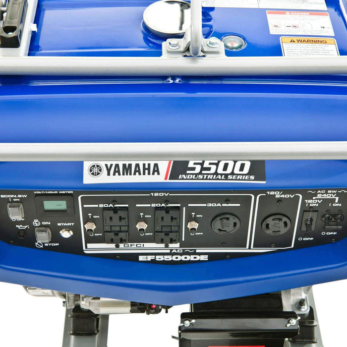 Yamaha EF5500DE 358cc 5,500-Watt 120/240-Volt Dual Voltage Electric Start Generator