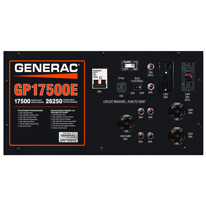 Generac GP17500E 992cc 17,500-Watt 120/240V Electric Start Portable Generator