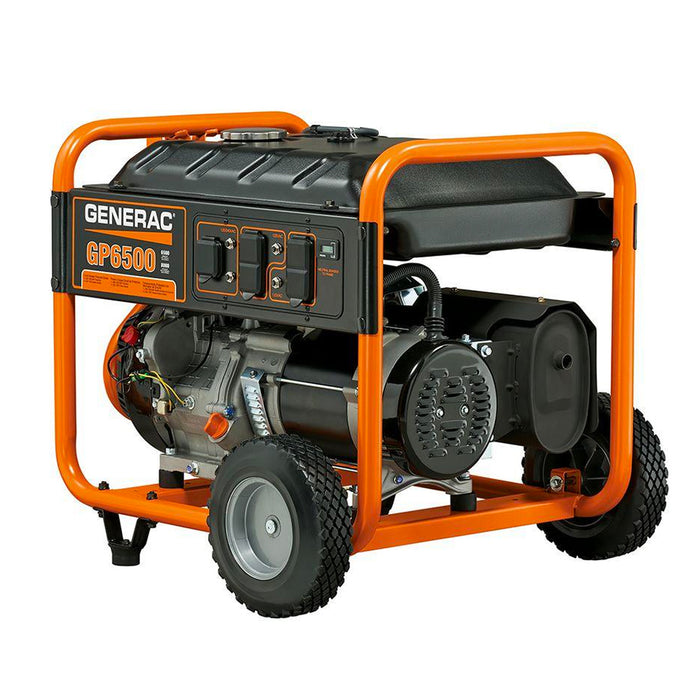 Generac GP6500 389cc 6,500-Watt 120/240-Volt Recoil Start Portable Generator - 5946