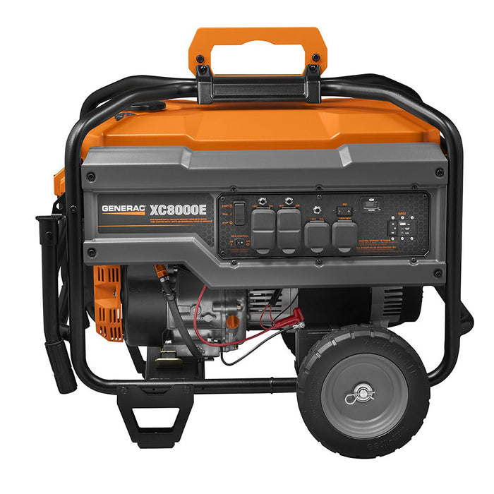 Generac 6827 8000W 120/240V XC8000E Electric Start Portable Gasoline Generator