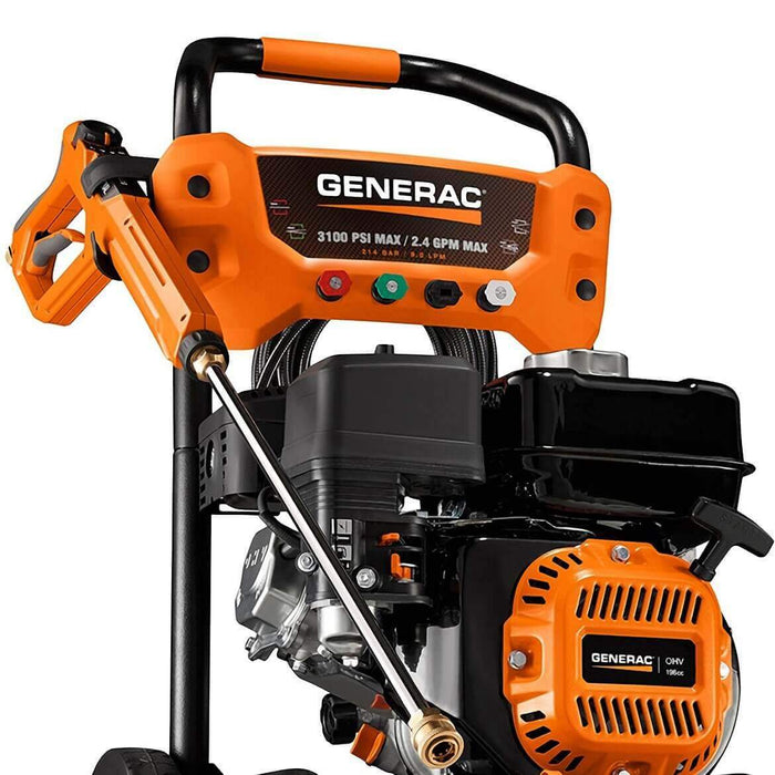 Generac 7019 3100-Psi 2.4-Gpm Cold Water Gas Powered Residential Pressure Washer