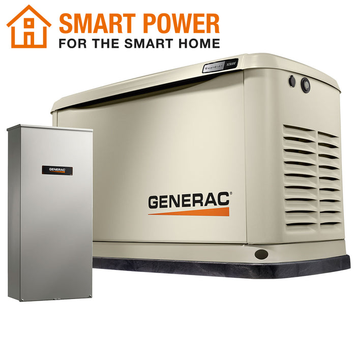Generac 7172 10kW Air Cooled Home Standby Generator w/ WiFi and Transfer Switch