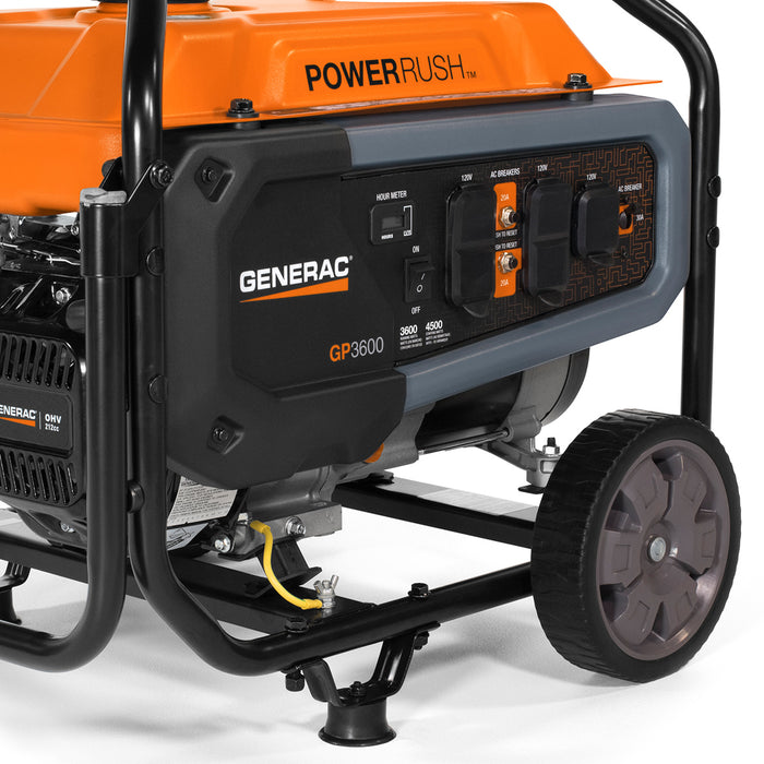 Generac GP3600 212cc 120-Volt 30-Amp Gas Powered Portable Generator - 7677