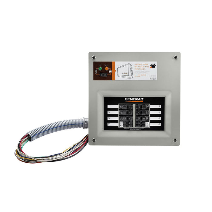 Generac 9854 50 Amp 10 Circuit HomeLink Upgradeable Manual Transfer Switch