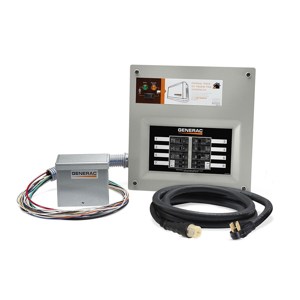 Generac 9855 50 Amp 10 Circuit HomeLink Upgradeable Manual Transfer Switch Kit