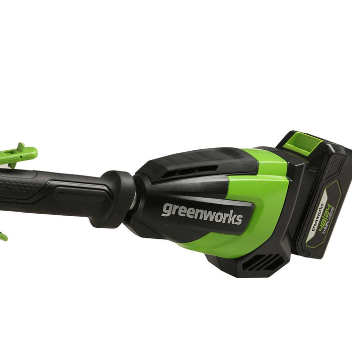 "GreenWorks Commercial 48PH18 48V 18"" Cordless Dual Voltage Pole Hedge Trimmer"