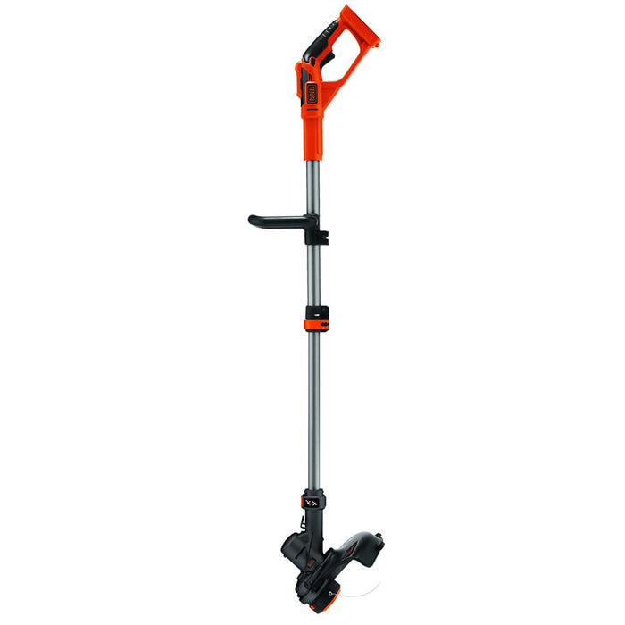 vertical side view of the Black and Decker LST136B String Trimmer