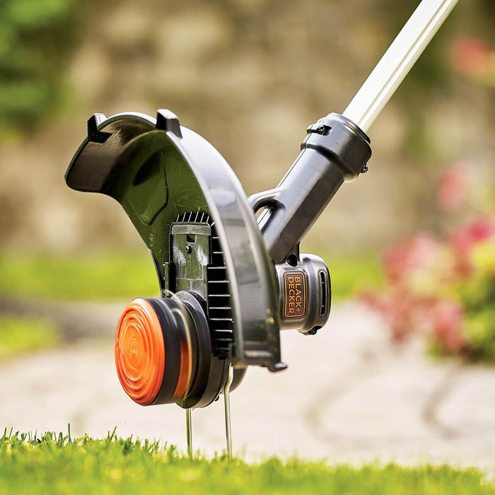 using the Black and Decker LST140C String Trimmer as an edger