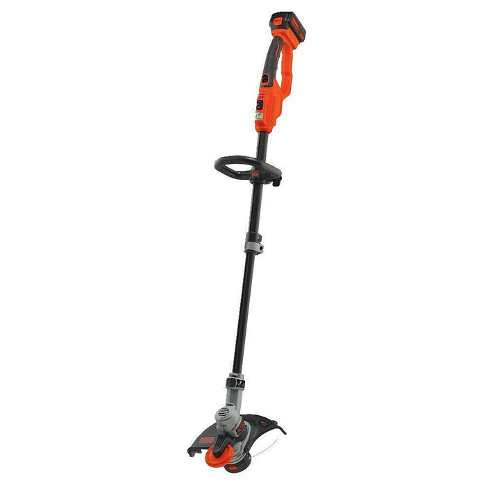 Black and Decker LST400 20-Volt 12-Inch Cordless High-Performance Straight  Shaft String Trimmer