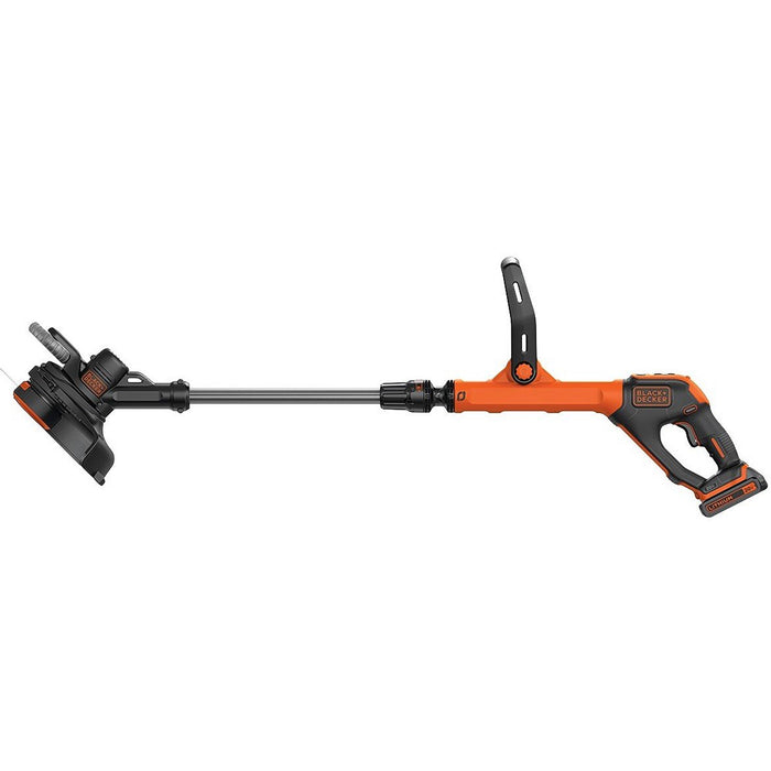 Side view of the Black and Decker LST522 String Trimmer