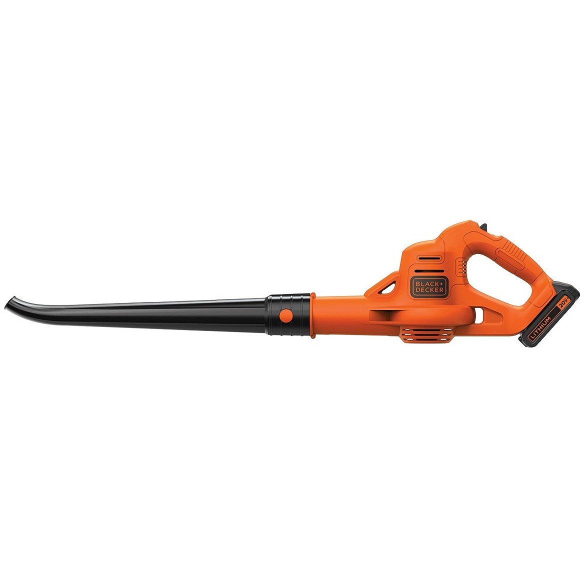 side view of the Black and Decker LSW221 Leaf Blower