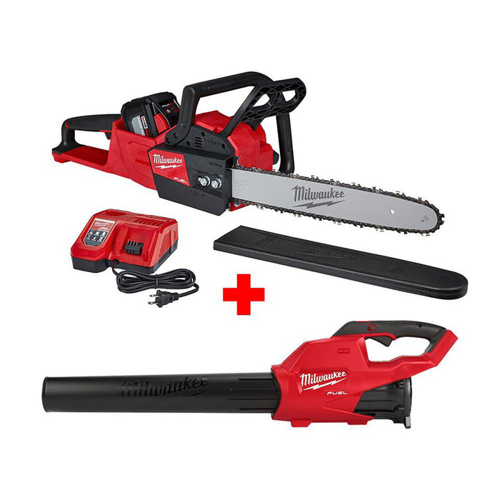Milwaukee 2727-21HDP 18V M18 FUEL Cordless 16-Inch Chainsaw & Blower Tool Kit