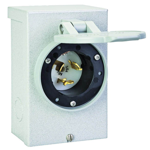 Reliance PB50 50-Amp 12,500-Watt 120/240-Volt Non-Metallic Power Inlet Box