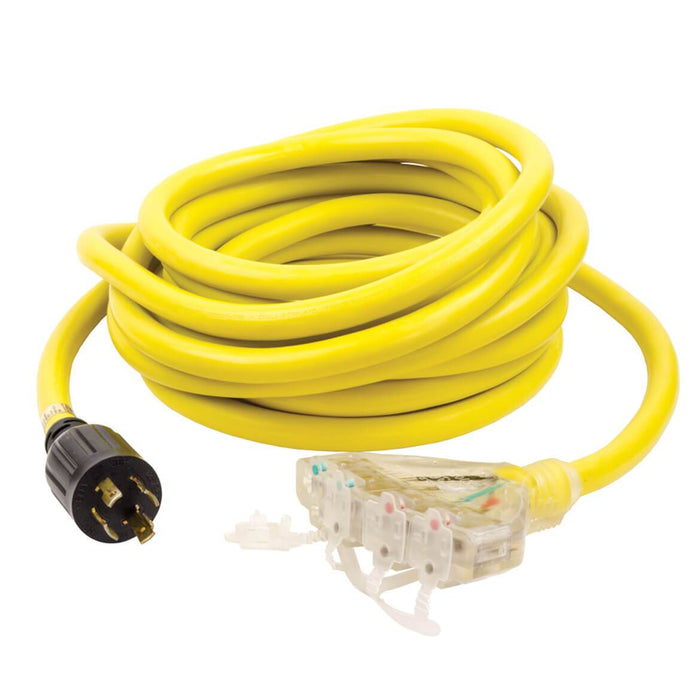 Reliance PCY325R 25-Foot 30-Amp 4-Way Yellow Generator Splitter Power Cord
