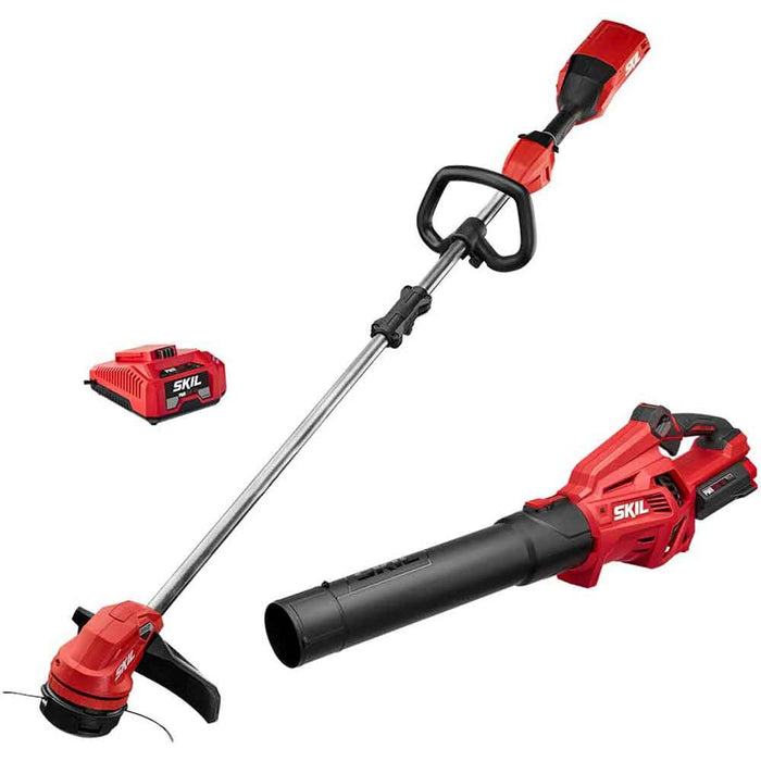 "Skil CB7478-10 40V PWRCore 14"" Cordless String Trimmer w/ Leaf Blower Combo Kit"
