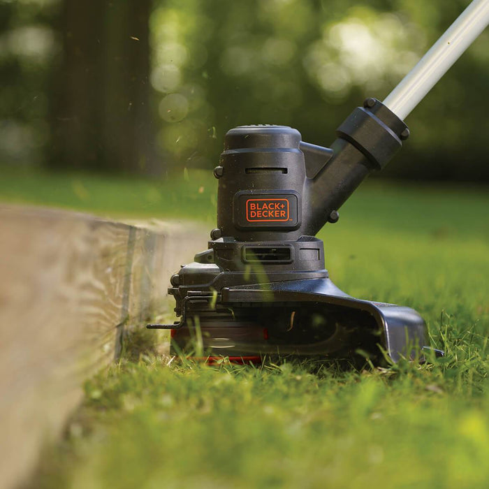 using the Black and Decker ST8600 String Trimmer near cement