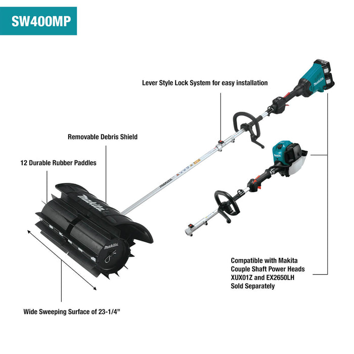 Makita SW400MP 23-1/4-Inch Paddle Sweep Shaft Power Head Attachment