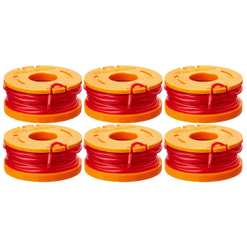 Worx WA0010 DNA2 Replacement 10-Foot Grass Trimmer/Edger Spool Line (6-Pack)