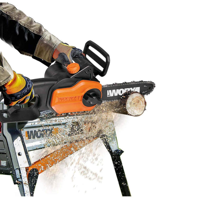 Worx WG309 10-Inch 8-Amp Auto-Tension Auto Oiler Electric Pole Saw
