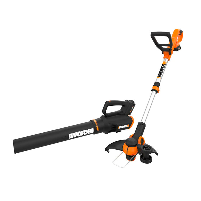 Worx WG929.1 20 Volt 2-Tool Cordless String Trimmer and Turbine Blower Combo Kit