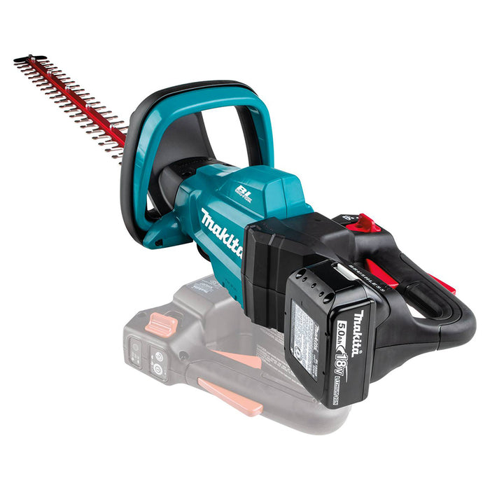 Makita XHU07T 18 Volt 24 Inch 5.0Ah LXT Lithium-Ion Brushless Hedge Trimmer Kit
