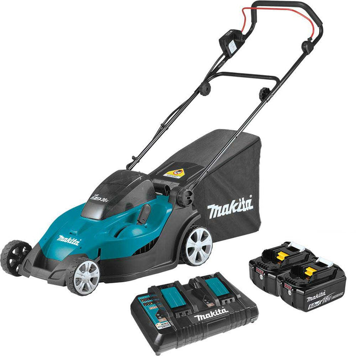 Makita XML02PT 18V X2 36V LXT Lithium Ion Cordless 17 Inch Lawn Mower Kit