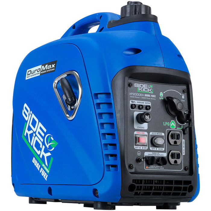 DuroMax XP2000EH 2,000-Watt Dual Fuel Digital Inverter Hybrid Portable Generator
