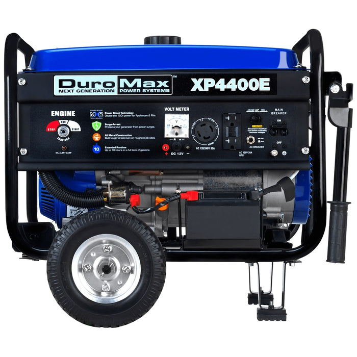 DuroMax XP4400E 4400-Watt 7-Hp RV Grade Gas Generator w/Electric Start Wheel Kit