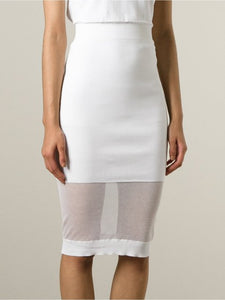 MCQ Alexander Mcqueen sheer panel fitted knit skirt
