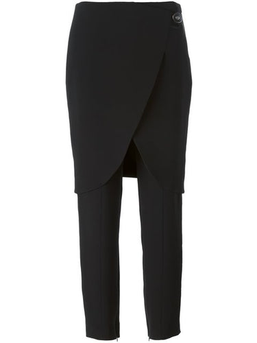 Giorgio Armani Women's Black Silk Cady Skirt Pants