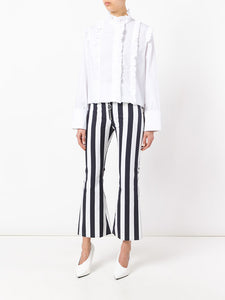 MARQUES'ALMEIDA striped flared trousers