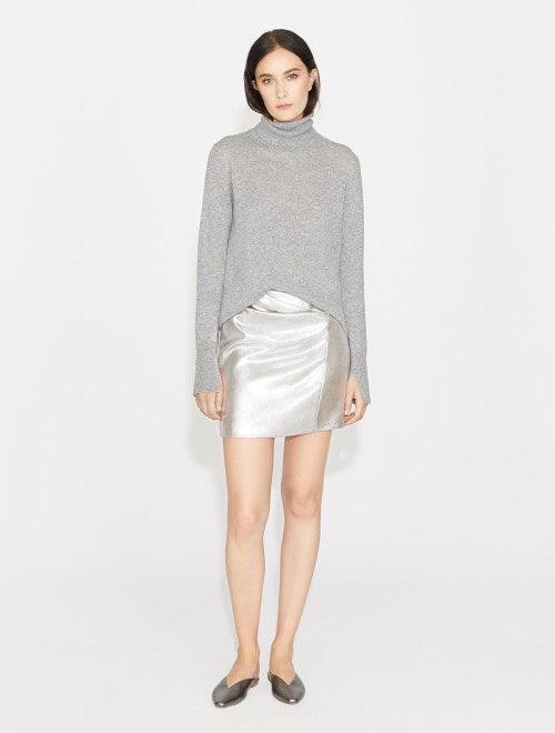 Halston Heritage METALLIC DRAPED MINI SKIRT