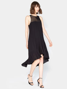 Halston Heritage Embroidered Flowy Dress