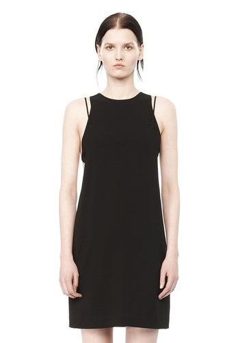 Alexander Wang exposed layer camisole dress black