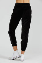 PrismSport track pants in Black velvet