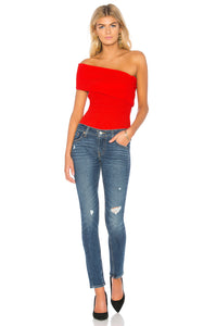 Alix Hewes Red Bodysuit