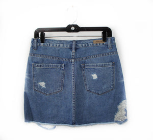 BlankNYC denim zip up skirt