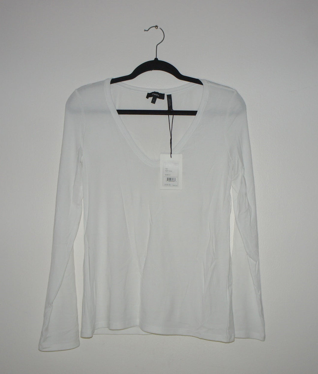 Theory white Jehane Ribbed Shirt