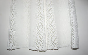 Twenty perforated off white wide leg pants