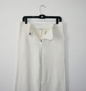 Helmut Lang cream wool pants