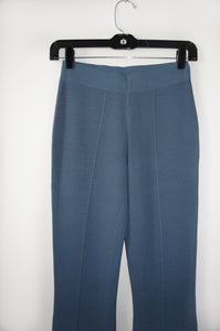 "Theory ""kabel"" dusty blue wide leg pants"