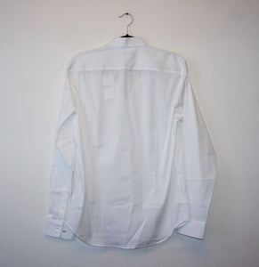 "Theory ""Sylvian Precise"" white button down shirt"