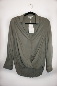 "Beach lunch lounge ""cherie"" dusty olive top"