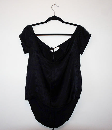 State of being black viscose top